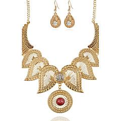 baratos Conjuntos de Bijuteria-Mulheres Diamante sintético Conjunto de jóias - Flor Vintage Incluir Colar / Brincos Dourado / Prata Para Festa Ocasião Especial Presente
