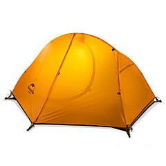 Naturehike 1 Persoons Tent Dubbel Kampeer tent Eèn Kamer Opgevouwen Tent Houd Warm Regenbestendig Vouwbaar voor Kamperen Nylon Siliconen
