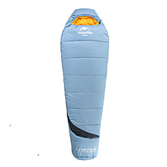 Schlafsack Mumienschlafsack 0°C warm halten Tragbar 210X80 Camping Einzelbett(150 x 200 cm)