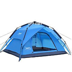 billige Telt og ly-DesertFox® 4 personer utendørs Telt Vanntett Regn-sikker Ett Rom Dobbelt Lagdelt 2000-3000 mm Telt til Camping Oxford 200*180*130 cm