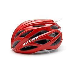 男女兼用 バイク ヘルメット 26 通気孔 サイクリング サイクリング マウンテンサイクリング ロードバイク ワンサイズ PC EPS 炭素繊維 + EPS レッド
