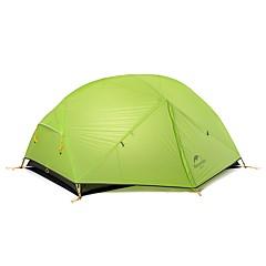 billige Telt og ly-Naturehike 2 personer Telt Dobbelt camping Tent Utendørs Turtelt Bærbar Vindtett Regn-sikker til Camping Reise >3000 mm 210*135*100cm