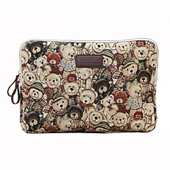 cheap Laptop Bags-11.6 12 13.3 14.1 15.6 inch Cute Bear Computer Bag Notebook Sleeve Case for Surface/Dell/HP/Samsung/Sony etc