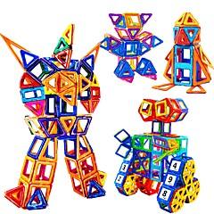 אבני בניין פאזל בלוקים מגנטיים מגדיר בניין מגדיר מכוניות צעצוע צעצוע חינוכי צעצועים ריבוע מעגלי משולש 3D מגנטי לא מפורט נערים חתיכות
