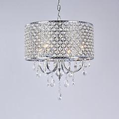 billiga Dekorativ belysning-Lightinthebox 4-Light Trumma Ljuskronor Glödande Elektropläterad Metall Kristall 110-120V / 220-240V Glödlampa inte inkluderad / E12 / E14
