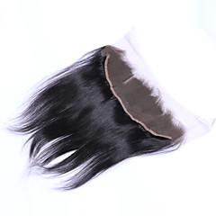 billiga Peruker och hårförlängning-Brasilianskt hår 4x13 Stängning Rak Fria delen / Mittparti / 3 Del Schweizisk spetsperuk Äkta hår