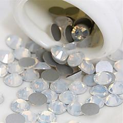50 stk. 2 mm egg hvit juvel neglelakk dekorasjon