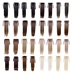cheap Wigs & Hair Pieces-Ponytails Synthetic Hair Hair Piece Hair Extension Straight