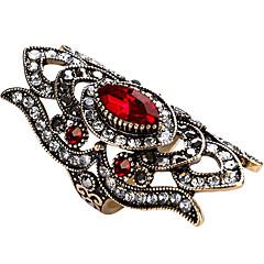 billige Motering-Dame Geometrisk Statement Ring / Ring - Glass, Legering Personalisert, Luksus, Unikt design 7 / 8 / 9 Rød / Grønn / Blå Til Fest / jubileum / Bursdag