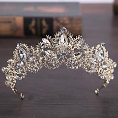 rhinestone, stop, tiara, headpiece, elegancki, klasyczny, kobiecy, styl