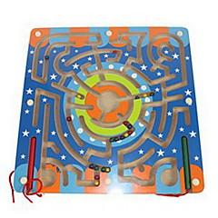tanie Gry i puzzle-Drewniany labirynt Klocki Magnetyczne labirynty Zabawka edukacyjna Kwadrat Magnetyczne Klasyczna Dla chłopców Zabawki Prezent