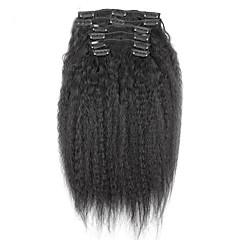 Χαμηλού Κόστους Εξτένσιονς μαλλιών με κλιπ-PANSY Κουμπωτό Επεκτάσεις ανθρώπινα μαλλιών Σγουρά Εξτένσιον από Ανθρώπινη Τρίχα Φυσικά μαλλιά Βραζιλιάνικη Γυναικεία