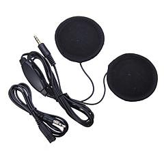 3.5ミリメートルジャックヘルメットヘッドフォンオートバイヘルメットスピーカーヘッドフォンプラグのボリュームコントロールmp3電話ヘルメットアクセサリーのための音楽heasets