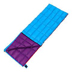Saco de dormir Retangular Penas de Pato 10°C Prova-de-Água Respirabilidade 190X70 Campismo Interior Viajar Exterior Solteiro (L150 cm x