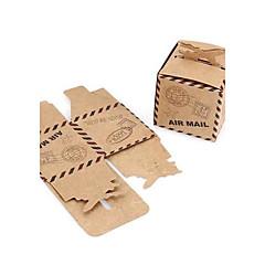 preiswerte Gastgeschenk Boxen & Verpackungen-Kreativ kubisch Kartonpapier Geschenke Halter mit Muster Geschenkboxen Geschenktaschen Zuckertüten Plätzchen Beutel Geschenk Schachteln