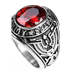 בגדי ריקוד גברים טבעות הצהרה טבעת אופנתי סטייל פאנק מותאם אישית היפ-הופ Rock Euramerican פלדת טיטניום תכשיטים תכשיטים עבור Party אירוע