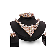 Women's Jewelry Set Imitation Pearl Rhinestone Fashion Vintage Personalized Euramerican Statement Jewelry Costume Jewelry Imitation Pearl