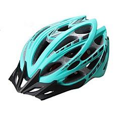お買い得  自転車用ヘルメット-ヘルメット バイクヘルメット サイクリング 30 通気孔 反射ストリップ ワンピース 夜光計 超軽量(UL) マウンテンサイクリング ロードバイク レクリエーションサイクリング マウンテンバイク