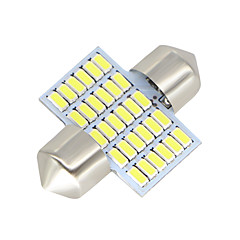 billige Interiørlamper til bil-SO.K 31mm Bil Elpærer 3W W SMD 3014 300lm lm LED interiør Lights