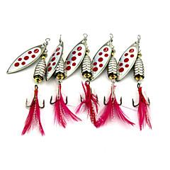 5 個 バズベイト&スピナーベイト スプーン メタルベイト グラム/オンス mm インチ バス釣り ルアー釣り