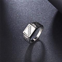 Anel Anel de noivado Zircônia cúbica Elegant Moda Clássico Cristal Zircônia Cubica Pedaço de Platina Forma Redonda Jóias ParaCasamento
