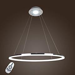 billiga Dekorativ belysning-Lightinthebox Cirkelrunda Hängande lampor Fluorescerande Elektropläterad Metall Akryl Ministil, LED 110-120V / 220-240V Varmt vit / Kall vit / Dimbar med fjärrkontroll LED-ljuskälla ingår / FCC