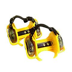 어른' 스케이트 신발 착용 가능한 조절 가능 LED 조명 루비/퍼플/옐로우/피치/블루