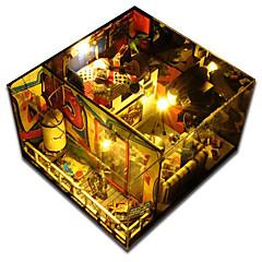 תאורת לד צעצועיערכת עשה זאת בעצמך Music Box צעצועים בית עץ נייר חתיכות לא מפורט יום הולדת מתנות