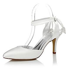 olcso -Női Esküvői cipők Kényelmes Club cipő színezhető cipő Selyem Tavasz Ősz Ruha Party és Estélyi Kényelmes Club cipő színezhető cipő Fűző
