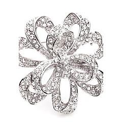 Dámské Dívčí Brože crossover Štras Slitina Šperky Pro Svatební Párty Zvláštní příležitosti Ležérní