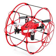 billige Fjernstyrte quadcoptere og multirotorer-RC Drone M66 4 Kanal 2.4G - Fjernstyrt quadkopter Flyvning Med 360 Graders Flipp Fjernstyrt Quadkopter USB-kabel Skrutrekker Blader