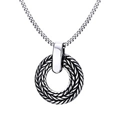 Men's Pendant Necklaces Statement Necklaces Stainless Steel Titanium Steel Euramerican Fashion Punk Hip-Hop Rock Casual Unqiue Jewelry