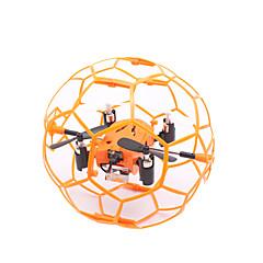 billige Fjernstyrte quadcoptere og multirotorer-RC Drone TKKJ M70 4 Kanal 6 Akse 2.4G Fjernstyrt quadkopter LED Lys / Flyvning Med 360 Graders Flipp / Sveve Fjernstyrt Quadkopter / Fjernkontroll / 1 Ladestasjon