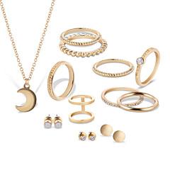 billige Smykke Sett-Dame Strass / Sølvplett / Gullplatert rose Smykkesett - Unikt design Sirkelformet Gull / Sølv Smykke Sett Til Fest / Bursdag / Virksomhet