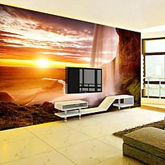 billige Tapet-vakker solnedgang tilpasset 3d stor veggdekorasjon veggmaleri tapet passer restaurant soverom kontor natur