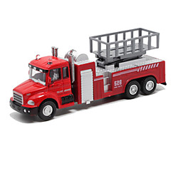 cheap Diecasts & Toy Vehicles-Fire Engine Vehicle Toy Truck Construction Vehicle Toy Car Die-Cast Vehicles Pull Back Vehicles Metal Alloy Unisex Kid's Toy Gift