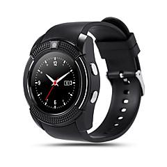 tanie Inteligentne zegarki-Inteligentny zegarek V8 na Android Spalone kalorie / Długi czas czuwania / Odbieranie bez użycia rąk / Ekran dotykowy / Kamera / aparat Stoper / Powiadamianie o połączeniu telefonicznym / Rejestrator