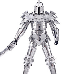 cheap -3D Puzzles Jigsaw Puzzle Metal Puzzles Model Building Kit Warrior 3D DIY Unisex Toy Gift