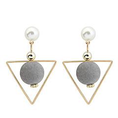 Damen Tropfen-Ohrringe Imitierte Perlen Modisch Euramerican Modeschmuck Kupfer Geometrische Form Dreiecksform Schmuck Für Alltag Normal