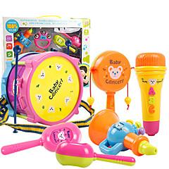 교육용 장난감 인형의 집 악세사리 장난감 드럼 세트 플라스틱 조각 키드 선물