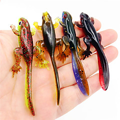 HiUmi Lot 4pcs 8cm 3.8g New Arrive Plastice Silicone Bait Worms Fishing Lure Smell Attractive Fish Crab Fishing Bait Soft Bait