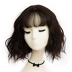 cheap Wigs & Hair Pieces-Synthetic Wig Women's Wavy Bob / With Bangs Synthetic Hair Wig Short Capless Ash Brown Brown Grey
