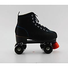 Erwachsene Roller Skates Beleuchtung Blinkende Roller-Skates Gut belüftet Schwarz