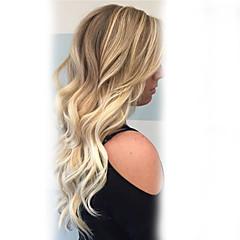 billige Lågløs-Human Hair Capless Parykker Menneskehår Bølget Klassisk Høj kvalitet Maskinproduceret Paryk Daglig