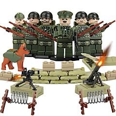 אבני בניין צעצוע חינוכי דמויות מאבני בניין צעצועים לוחם לא מפורט חתיכות