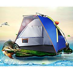 billige Telt og ly-3-4 personer Telt Strandtelt Enkelt camping Tent Ett Rom Automatisk Telt Regn-sikker Støvtett til Camping & Fjellvandring 1000-1500 mm