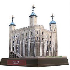 baratos -Quebra-Cabeças 3D Maquetes de Papel Torre Construções Famosas Faça Você Mesmo Cartão de Papel Duro Crianças Unisexo Dom