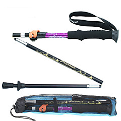 cheap Trekking Poles-5 Nordic Walking Poles Multifunction Walking Poles Trekking Pole Accessories 135cm Damping Multi-function Foldable Durable Ultra Light
