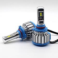 70w 7200lm 9005 hb3 philips led lampe forlygte kit bilstråle pærer opgradering 6000k