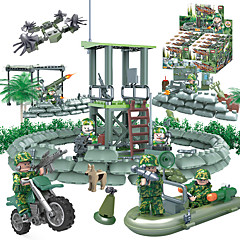cheap Building Toys-GUDI Building Blocks / Block Minifigures / Educational Toy 318 pcs Soldier / Warrior Military / Tank / Fighter Aircraft DIY Unisex Gift